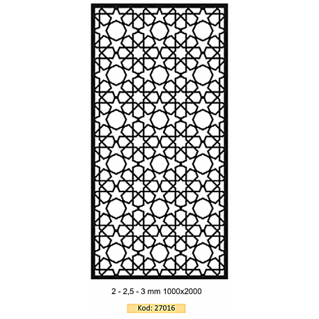 Code:27016 - 1000x2000 Lazer Cut Sheet